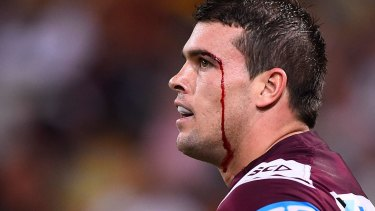 Show of support: The Sea Eagles players and staff turned out to pay their respects to the Lussick family.