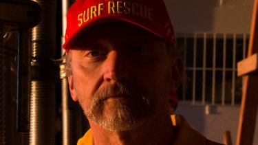 Mark Doepel inside the Coogee Surf Life Saving Club which was damaged during the storms.