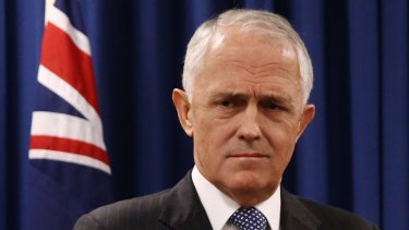 Prime Minister Malcolm Turnbull faces questions on his superannuation changes at a press conference on Wednesday.