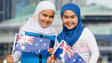 The billboard featuring two Muslim Australian girls was removed following complaints from some constituents.