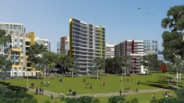 An artist's impression of the Ivanhoe estate, which is part of the Communities Plus program.