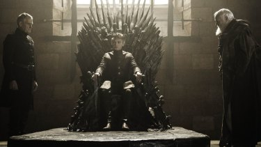 Replaced as ruler: King Tommen jumps to his death in the season finale of Game of Thrones.