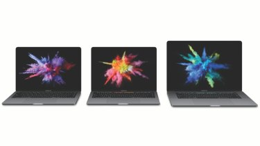 Apple's 2016 MacBook Pro line-up: Two 13-inch models and a 15-inch. Consumer Reports found all three lacking in the battery department.