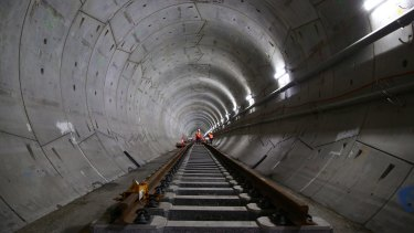 Most of the proposed metro line from the CBD to Parramatta will run through tunnels.