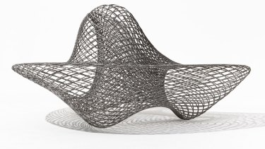 Dragon bench 2014 stainless steel, ed. 4/8 NGV.