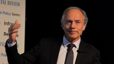 Chief Scientist Dr Allan Finkel speaks at the National Energy Summit on Monday.