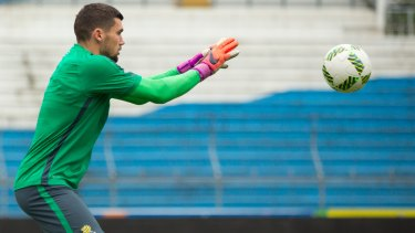 Safe hands: Socceroos goalkeeper Mat Ryan.