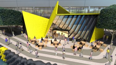 ARM's proposed Elizabeth Quay in Perth has clear echoes of Melbourne's <i>Vault</i>.