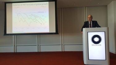 John Fraser, speaking in London, said Australia's growing debt must be curbed.