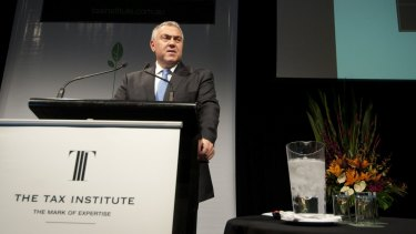 """""""Every day the senate rejects initiatives from government to reduce government spending the taxes of Australians increase"""":  Joe Hockey."""