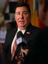 William Peduto, mayor of Pittsburgh,  reacted with confusion when Donald Trump said he was withdrawing from the Paris accords on behalf of the city.