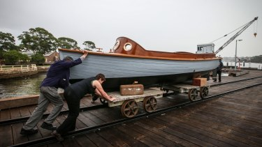 Volunteer David Glasson has restored a 1913 wooden naval vessel, which will go on show at the Classic & Wooden Boat Festival at the National Maritime Museum.