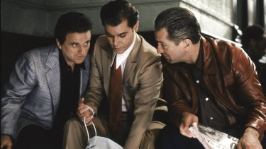 Martin Scorcese's <i>Goodfellas</i>:  Joe Pesci, Ray Liotta and Robert De Niro.