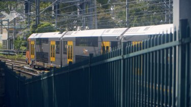 One of the noisy trains in Waverton.