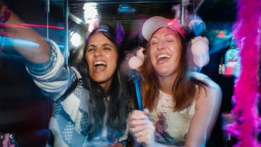 Madeleine Sami and Celia Pacquola in the screwy but truthful comedy The Breaker Upperers.
