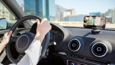 Eyes on the road: the TomTom Go 520.