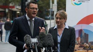 Victorian Premier Daniel Andrews and Public Transport Minister Jacinta Allan.