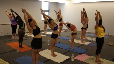 Heart rate: Each Bikram yoga class is conducted in a room heated to 38.5 degrees.