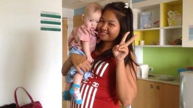 Thai surrogate mother Pattaramon Chanbua poses with baby Gammy in Bangkok last year.