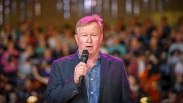 Denis Walter at rehearsals for  Carols By Candlelight.
