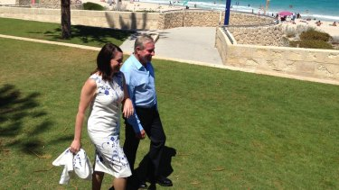 Ms Harvey (pictured with Premier Colin Barnett) will replace Kim Hames who announced he would step down from the deputy role ahead of his retirement.