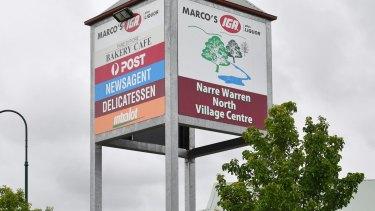 Narre Warren North shopping mall.