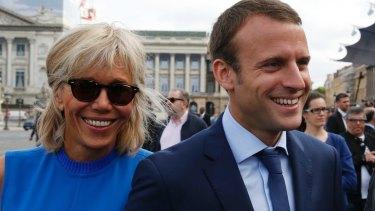 Brigitte with her husband Emmanual Macron.