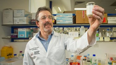 UHT milk could pave the way for new treatments for Alzheimer's, Parkinson's and type 2 diabetes. Professor John Carver in the lab.