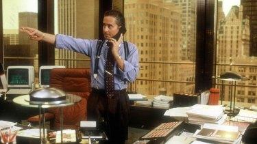 Michael Douglas as Gordon Gekko in the 1987 classic Wall Street.