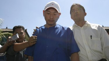 Andrew Chan at the start of his ordeal in 2005.