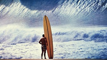 Greg Noll in the famous picture of Noll by Hall of fame surfer and artist John Severson.