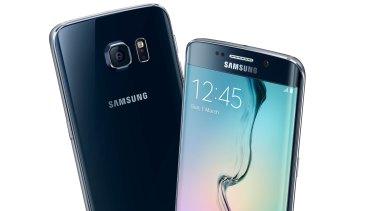 The Galaxy S6 Edge in Black Sapphire.