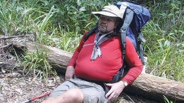 Peter Fitzsimons on the Kokoda Track in 2003.