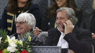 Bad call: The WTA has slammed the inclusion of Ilie Nastase (right) in official proceedings at the Madrid Open.