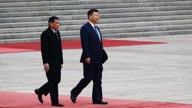 President of the Philippines Rodrigo Duterte and Chinese President Xi Jinping.