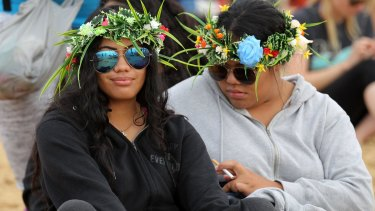 Pacific Islanders at Newcastle for the anti-coal protest.
