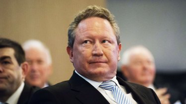 Andrew Forrest ... Fortescue Metals Group's attempt to get up an inquiry in the West Australian Parliament on iron ore is understood to have fallen flat this week.