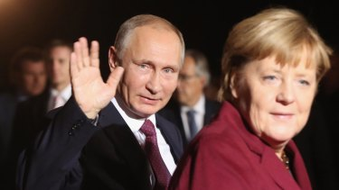 Russia's Vladimir Putin and Germany's Angela Merkel have reacted very differently to Donald Trump's surprise election victory.