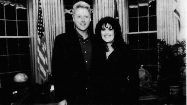 President Clinton and Monica Lewinsky in the Oval Office at the White House.