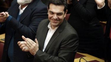 """""""The future has already begun"""": Syriza leader Alexis Tsipras."""