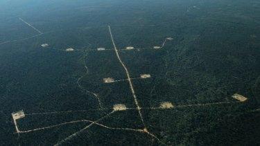 Santos's CSG storage ponds in the Pilliga State Forest.