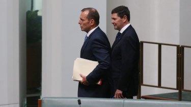 Backbenchers Tony Abbott and Kevin Andrews.