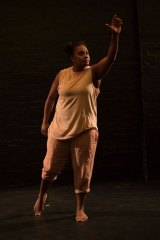 Ghenoa Gela is a dancer, but she is also a vivid storyteller with a forceful dramatic presence.