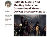 The international meet-up was posted to Mr Valizadeh's Return of Kings website