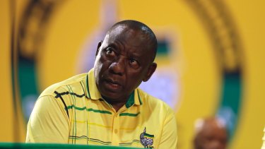 Front runner and Deputy President, Cyril Ramaphosa.