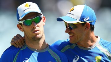Under pressure: Mitch Marsh might not play a supporting role for Mitchell Starc in Hobart.