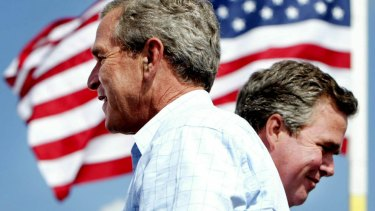 Jeb Bush, right, regards his brother , George W. Bush as an adviser.