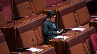 Sam Dastyari in the Senate this week.