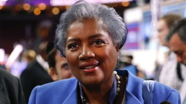Donna Brazile, interim chair of the Democratic National Committee, appears on the floor of the Democratic National Convention in Philadelphia in 2016.