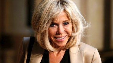 Brigitte Macron, wife of French president Emmanuel Macron.